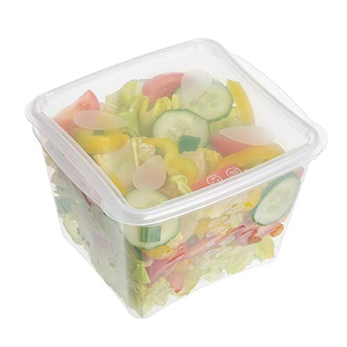 Confezione da 30 grandi contenitori per alimenti in plastica con coperchio, 1800 ml, contenitori in plastica con coperchio, adatti a microonde, freezer e lavastoviglie, durevoli, trasparenti