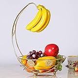 AOLI Ciotole di frutta Cesto di frutta creativo Salotto Cestino di frutta Cestino di frutta Cestino di frutta Bar Ciotola di frutta Cucina Frutta Banco di mostra Banana Fruit Rack