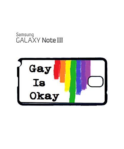 Gay Is OK Rainbow Respect Proud People Mobile Phone Case Samsung Galaxy S5 Mini White Blanc