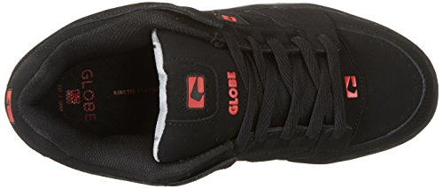 Globe Herren Scribe Low-Top Schwarz (Black/black/red)