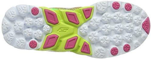 Skechers Go Run 4, Chaussures de course femme Vert (lime/pink)
