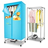 Clothes Dryer Xinjin 1200W asciugatrice elettrica Automatica Mute a 2 Strati a 360 ° Veloce Aria secca in Lega di Alluminio carico 15 kg 72 * 45 * 150 cm