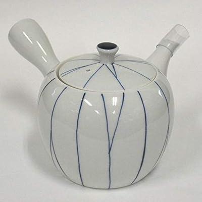 Fukuda en céramique Japonaise Hasamiyaki Porcelaine Théière Japonaise Kyusu Tegaki Sen ????–dessinés à la Main des Lignes 205–1