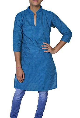 Womans kurti Sommer lässig Tunika mit V-Ausschnitt Tank T-Shirt Weste oben Indien Kleidung -s (Tunika Shirt Kurti)