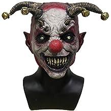 Hengyutoy Mask Máscara de Payaso Hombres, Espeluznante Máscara de Halloween ...
