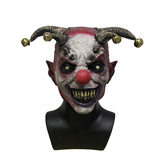 Halloween Clown Kostüm Jingle Bell Latex Maske