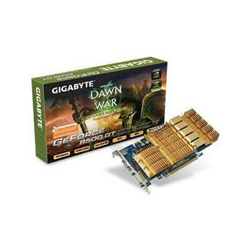 Gigabyte Grafikkarte NVidia 8500GT 512MB DDR2 PCI-E DVI TVO Passive Cooling (Dvi-600 Mhz-tv)