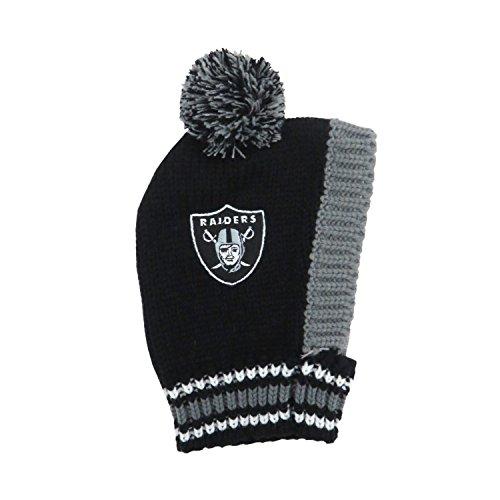 nfl-oakland-raiders-pet-knit-hat-black-large