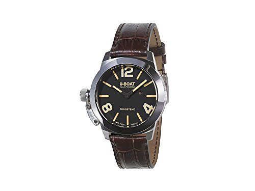 U-Boat Classico Stratos 40 BK Automatic Watch, Black, 40mm, Polished Tungsten
