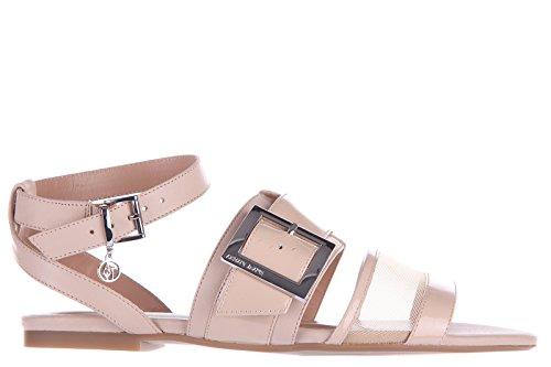 Armani Jeans sandali donna in pelle originale buckle beige EU 37 C5710 13 51