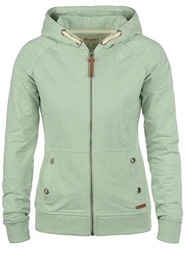 DESIRES Mandy Damen Kapuzenjacke, Größe:XL;Farbe:Frosty Green Melange (3550M)