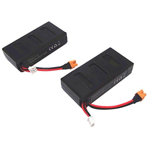 Wwman 2pcs 7.4v 1300mah 25C Baterías Li-Poly para MJX Bugs 6 B6F B6W B6FD RC Drone Piezas de repuesto