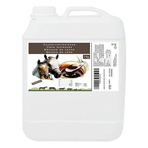 Melaza de Caña 7 kg, Complemento de Alto Valor Energético, Uso Animal, Recomendado para Caballos. Producto CE.