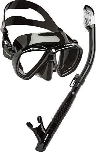 Cressi UnisexErwachsene Ranger & Tao Masken und Schnorchel zum Tauchen und Schnorcheln Schwarz, Einheitsgröße