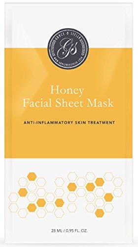 Honig Gesichtsmasken (6Er Set) | Tuchmasken | Für Weichere, Jugendlich Aussehende Haut | Beruhigende, Verjüngende & Entspannende | Feuchtigkeitsspendende Behandlung | Perfekte Strumpf Stuffer