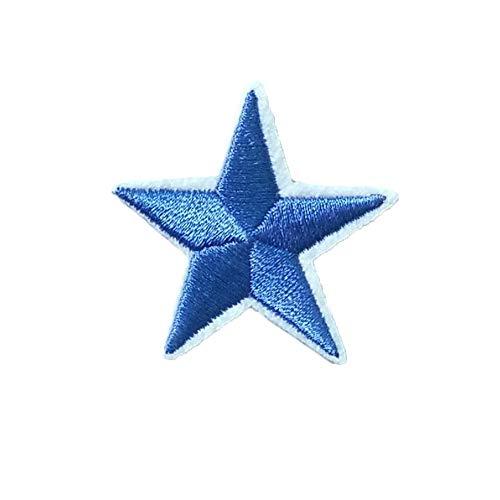 Wicemoon 10pcs Pentagrama Estrella Bordado Parche
