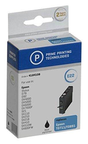 Preisvergleich Produktbild Prime Printing 4184108 Tintenpatrone für Epson T07114010, schwarz