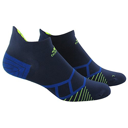 Adidas Herren-Energie-Running Single No Show Socken Gr. Medium, Collegiate Navy/Solar Yellow (Sock Adidas Elite)