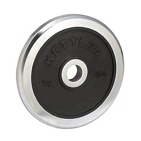 Kettler Chrom-Gummi Hantelscheiben (Inhalt: 1 Stück (1x 20 kg), 660 chrom/schwarz)
