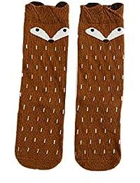 a4638f9ce16 I LOVE DIY Chaussettes Hautes Genou Enfant Fox Animaux Longue Bébé Fille  Coton pour ...