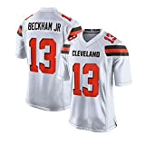 Pilang Football américain Sport, Cleveland Browns, 13# Beckham JR, Vêtements for Hommes Respirant Jersey (Color : White, Size : L)