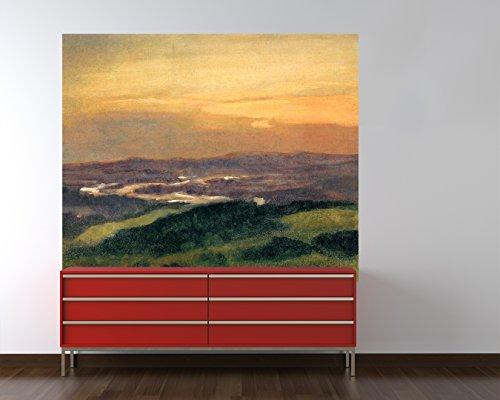 Bilderdepot24 Vlies Fototapete Carl Spitzweg - Alte Meister - Dünen an der Scheldemündung - 80x65 cm - mit Kleister – Poster – Foto auf Tapete – Wandbild – Wandtapete – Vliestapete