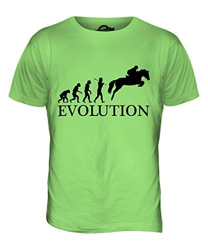 CandyMix Springreiten Evolution Des Menschen Herren T Shirt Limettengrün