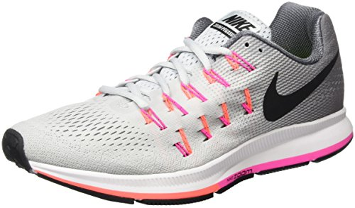 Nike Wmns Air Zoom Pegasus 33, Scarpe Running Donna, Argento (Pure Platinum/Black/Cool Grey/Pink Blast), 38.5 EU