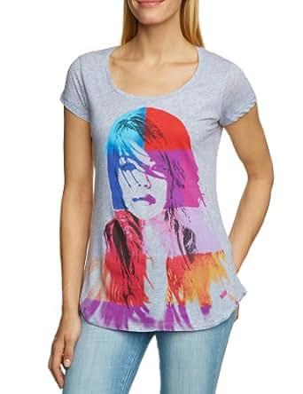 Calvin Klein Jeans Damen T-Shirt CWP31SJDA00, Gr. 38 (M), Grau (M91)