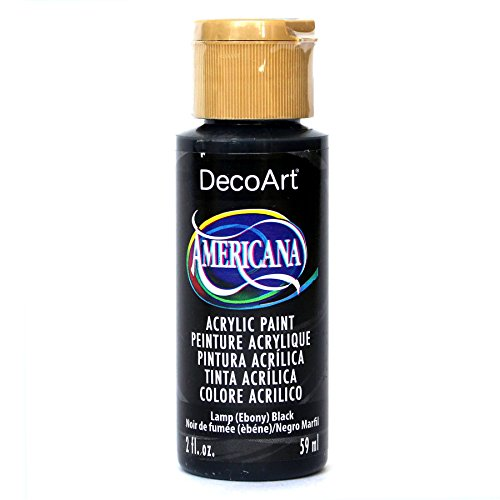 DecoArt Americana 2 oz Mehrzweck-Acrylfarbe, 59 ml, Lamp Ebony Schwarz Americana-rock