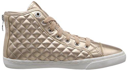 Geox D New Club A Damen Hohe Sneakers Gold (SKINC8182)