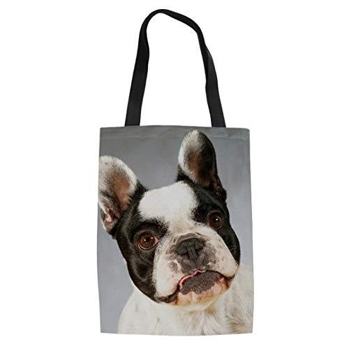 Cb-handle (ZXXFR Cat Einkaufstaschen Bettwäsche Für Reisen Leinwand Niedlichen Hunde Top-Handle Taschen Lässig Weiblich Recycling Handtasche, Cb 003 Z 22.)