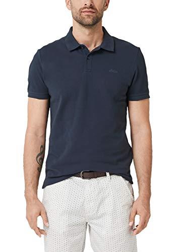 s.Oliver Herren 28.906.35.4586 Poloshirt, Blau (Night Blue 5900), Large (Herstellergröße: L) -