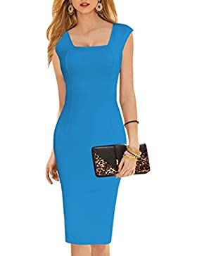 Summer Women's Vintage Knee Length Sexy Sleeveless Pencil Dress Cocktail Evening Party Casual Club Dresses Bodycon