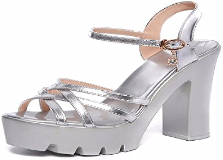 HBDLH HBDLH HBDLH Scarpe da donna Traspiranti argentoo A 13 Cm High Heeled scarpe Denso E Pesante Dei Sandali Scarpe Da Donna... | Portare-resistendo  804b3a
