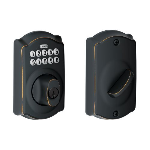camelot-oil-rubbed-bronze-keypad-deadbolt-be365-cam-613-aged-bronze-by-schlage-lock-company