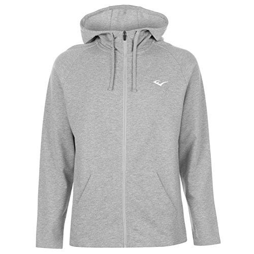 Langarm-hoodie, Zip Top (Everlast Herren GE Zip Top Kapuzenpullover Hoodie Langarm Grau Meliert S)