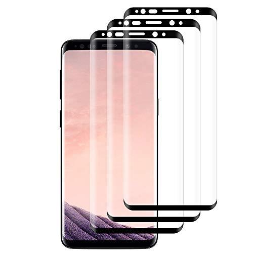 Hanbee 3-Pack Pellicola Vetro Temperato per Samsung Galaxy S8 Pellicola Protettiva per Samsung Galaxy S8, HD Trasparenza, 3D Copertura Completa, Anti-Graffi Pellicola per Samsung S8