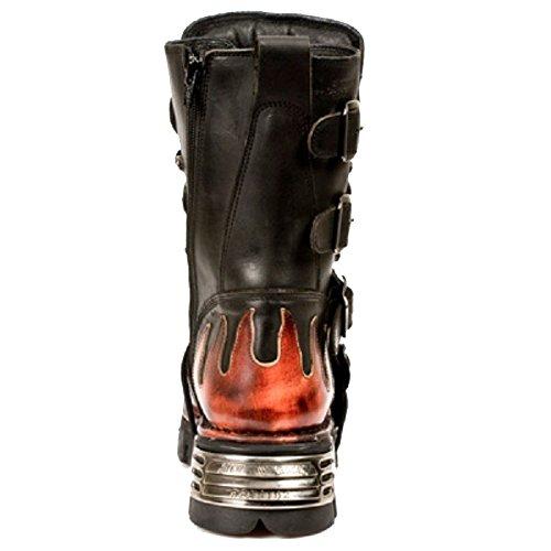 Neue Rock Bat Flame Reactor Stiefel Schwarz/Rot