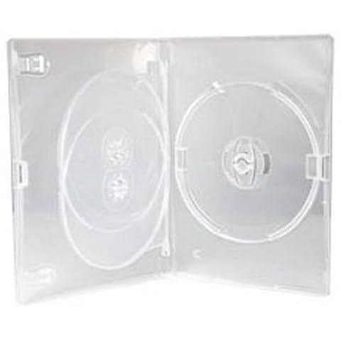 Four Square Media 10x CD/DVD/Blu-ray 14mm Effacer DVD Case 3Way pour 3Disques–Lot de 10