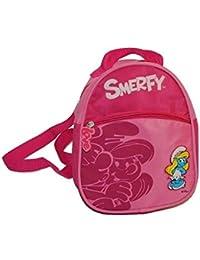 Preisvergleich für Unbekannt Rucksack die Schlümpfe Kinder - mit 2 Fächern Kinderrucksack klein Schlumpf Kind