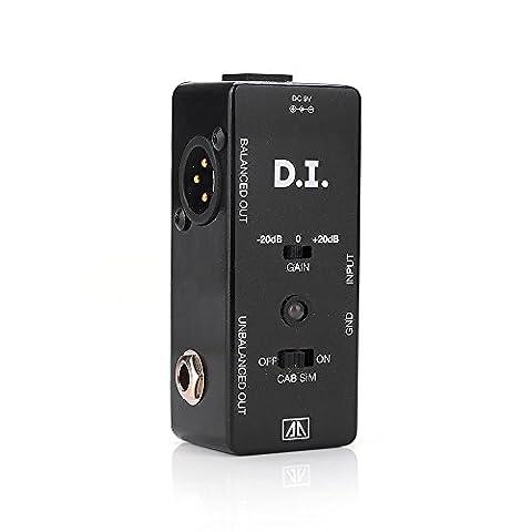 AA AMX-5 D.I. Mini Gitarren-Effekte Effektpedal Wahrer Bypass Zusätzliche Funktion von Schranksimulator und Verstärkungsoptionen für Gitarre Bass - Lightwish