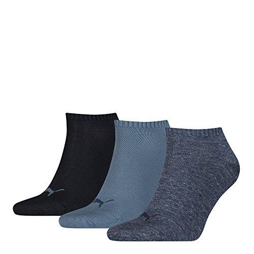 Puma Plain 3P Quarter Socke, Blau (Denim Blue), 39-42