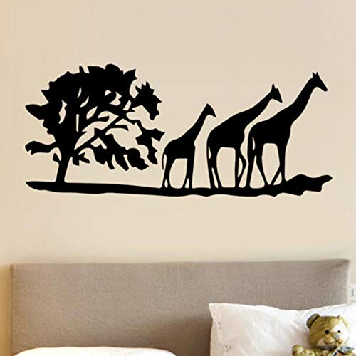 Árbol africano y jirafa papel tapiz de vinilo resistente al agua calcomanía...