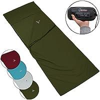 ALPIDEX Polialcotón Forro de la Bolsa de Dormir Pocket Peter Saco Sábana Interior para Saco de Dormir di, Color:Green Forest