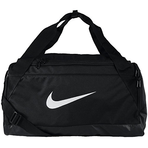 Nike Brasilia Small Sporttasche, Black/White, 50 x 28 x 25 cm