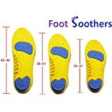 Foot Soothers Dual Pro Sole Memory Orthotic Arch Support Insoles Shock Absorption Metatarsal