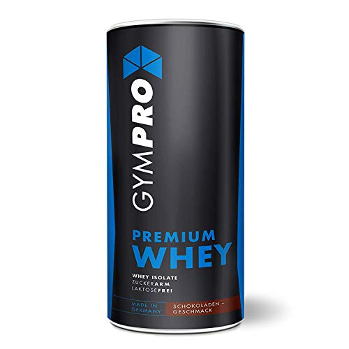 GymPro - Premium Whey Protein Pulver (Schokolade 1000g) laktosefrei mit 88% reinem Eiweiss. Whey Isolat & Whey Konzentrat mit Aminosäuren (BCAA). Hergestellt in Deutschland. - Reines Mango-butter