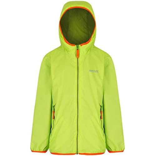 Regatta Kinder Lever II Wasserfeste Jacke, Lime Zest, Size 5-6 - Kleine Kinder Lime Bekleidung