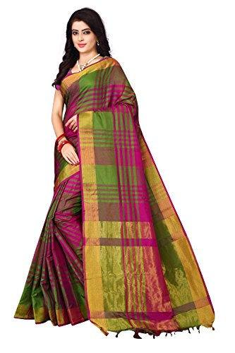 Nirmla Fashion Women's Cotton Silk Saree with Blouse Piece(S1115!_Multicolour!_Free Size)